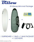 NEW Billow 8'4'' Epoxy Mini-mal Surfboard Matte Finish Package with 3xFCS fins