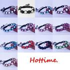 12Style Fashion Hand-woven Shamballa 9*10MM Crystal disco bracelets Gift Hot