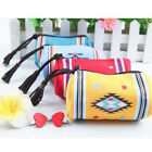 National Wind Indian Canvas Change Purse Tassel Key Bag Barrel-type Bags BSF015
