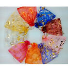 100pcs Heart Wedding Jewellery Candy Tulle Pouch Bags Gift Bag 5 Sizes ZNS046