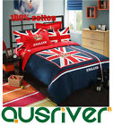 4pcs Royal England Flag Single/Double/Queen King Size Bed Quilt/Doona Covers Set