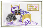 Shetland Sheepdog Birthday Card Embroidered by Dogmania  - FREE PERSONALISATION