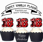 Eighteenth Party 18th Birthday EDIBLE wafer 15 Cupcake Toppers PRECUT cup