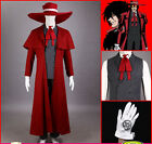 Hellsing Ultimate Alucard Jacket Coat Pant Hat Set Halloween Cosplay Costumes