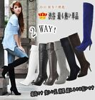 Black Brown White Lady's Knee High Heel Women Boots Zipper Shoes AU All Sz F27