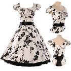 SPECIAL HEPBURN STYLE VINTAGE 1950's ROCKABILLY JIVE SWING PIN UP EVENING DRESS