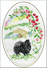 German Spitz Rainbow Bridge Card Embroidered by Dogmania