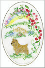 Norwich Terrier Rainbow Bridge Card Embroidered by Dogmania