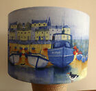 Harbour Boats Lamp shade,lampshade seaside shabby chic boat  blue  Free Gift