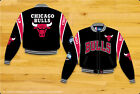 Chicago Bulls Officially Licensed NBA Mens Cotton Twill Jacket by JH Design