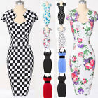 DANCE HEPBURN Style Vintage Housewife Rockabilly Pinup Wiggle Party Prom Dresses