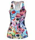 New Women Casual T-shirt Adventure Time Print Tops Sexy Punk Camisole  Clothing