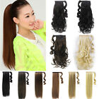 Clip In Hair Extensions Straight Wrap Around Pony Tail Pieces Synthetic hair ID1