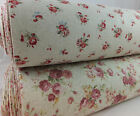 SB Antique Rose Japanese Linen Cotton Fabric Vintage Shabby Chic