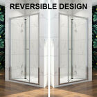 700/760/800/900/1000 Bathroom Bifold Shower Door Enclosure Glass Cubicle Screen