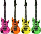 106cm Inflatable NEON GUITAR Jazz Musical Instrument Toy Fancy Dress 1,2,or 4