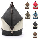 NEW Mens Women's Vintage Retro Canvas Backpack Rucksack School Laptop Duffle Sho