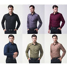 DISCOUNT mens designer shirts Long Sleeve Tops Formal Casual Slim Dress Shirts