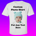 CUSTOM T-SHIRT PERSONALIZED TEE ANY TEXT PHOTO LETTERING LOGO ANY COLOR SHIRT