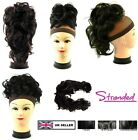WRAP AROUND LONG BENDABLE HAIR PIECE MESSY BUN BEEHIVE EXTENSION UPDO CURL TWIRL