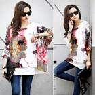 Women Casual Chiffon Batwing Sleeve Shirt T-Shirt Blouse Tops Plus Size ItS7
