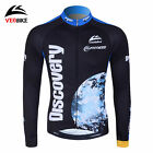 Bicycle Riding Thermal Fleece Winter Long Sleeve Cycling Jersey Team Tops