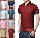 ZD84 New Men's Summer Luxury Casual Slim Fit Stylish Dress Shirts 8 COLOR