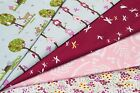 100% COTTON PRINT FABRIC - WOODLANDS THEME - DRAGONFLY