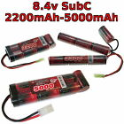 8.4V 2200-5000mAh SubC SC Premium Racing RC battery pack with custom connector