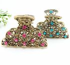 2Pcs Vintage New Arrival Metal Hair Claw Clip Silver Beautiful Waterdrop design