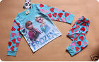 Frozen PJ'S Pyjamas BLUE PINK Girls set Kids Anna Elsa UK SELLER Christmas gift