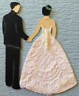 "BRIDE & GROOM Die-Cut Pre-Made Approx:3-1/4x 2.5""(1pc)Wedding•Ceremony Dress•Tux"