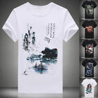 New Arrival 3D Pattern Men's Short Sleeve Crew Neck T-Shirt Tops Tee Shirts PLUS