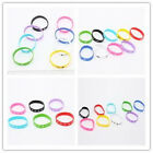 10/50x Fashion Jewelry Silicone Printed Sport Wrist Mixed Strap Charms Bracelet