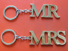 Mr or Mrs metal keyring, Novelty wedding or Anniversary gift