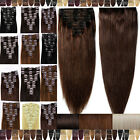 Ultimate Classy Clip In Remy Human Hair Extensions Full Head US Celebration F806