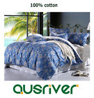 Premium Europe Style Single/Double/Queen/K Bed Quilt/Duvet/Doona Cover Set Blue