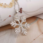 Snowflake Crystal Pendant Silvers plated Swarovski Element Christmas Necklace