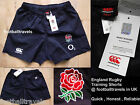 "L (40"") or XL (42"") ENGLAND PLAYER NAVY RUGBY TRAINING SHORTS Canterbury NZ"