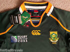 M or XL SOUTH AFRICA SPRINGBOKS WORLD CUP PRO RUGBY SHIRT JERSEY Canterbury