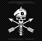 Army Green Beret Skull Military Special Forces Vinyl Decal Navy Seal - 25 Colors