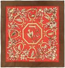 Rare Authentic Vintage Hermes Silk Scarf RAMAGE Birds