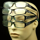 4 PAIR PACK LOT READING GLASSES CLEAR LENS NEW POWER STRENGTH CO18