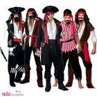 PIRATE CAPTAIN BUCCANEER CARIBBEAN SHIPMATE ADULT FANCY DRESS COSTUME SML-XL