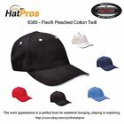 Authentic Flexfit Peached Cotton Twill Fitted Hat All Colors S/M & L/XL