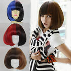 Fashion Lolita Bob wig short straight hair Cosplay Party 2Colors Mix Full wigs