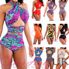 UK Multiway Beach Womens Vintage High Waist Bikini Set Bandage Swimwear Swimsuit