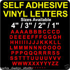 "SELF ADHESIVE VINYL LETTERS / 1"" (25mm), 2"",3"" and 4"" available /WATERPROOF/ S68"