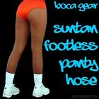 1 PAIR  ANY SIZE:  Suntan Footless Panty Hose - Boca Gear, Hooters girl style