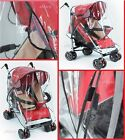UNIVERSAL BABY PUSHCHAIR STROLLER COVER PRAM BUGGY TRANSPARENT RAIN COVER NEW